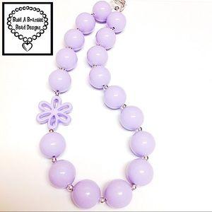 Lavender Solid Flower Necklace